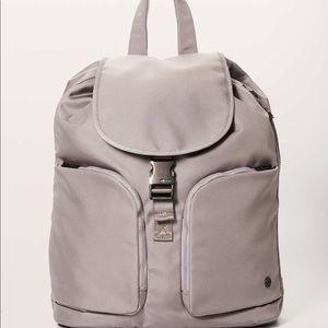 Carry Onward Rucksack Lululemon Backpack Grey NWT